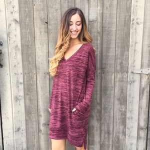 | new | burgundy sweater dress