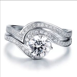 Jewelry - ❤️SALE Real 925 silver engagement wedding ring set