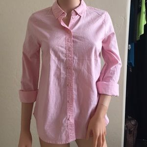 Topshop baby pink button up dress top