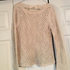 angel of the north Sweaters - Tan sweater with hole pattern