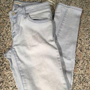 Joie skinny stretch jeans in light denim