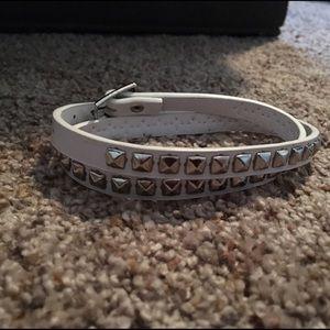 NWOT white studded wrap bracelet
