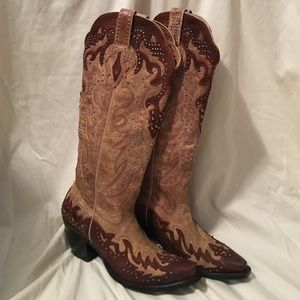 Sterling River Cowgirl/Cowboy boots- w/ bling!