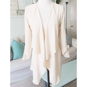 Primi Jackets & Blazers - Chic Draped Cream Jacket