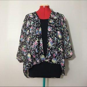 Millau Tops - Millau Floral Printed Kimono