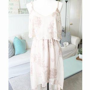 Forever 21 Dresses & Skirts - Peony Printed Mauve Summer Dress