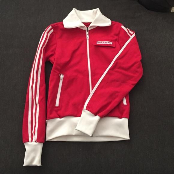 a la deriva Cabaña italiano  adidas Jackets & Coats   Adidas Retro Inspired Red Track Jacket Xs    Poshmark