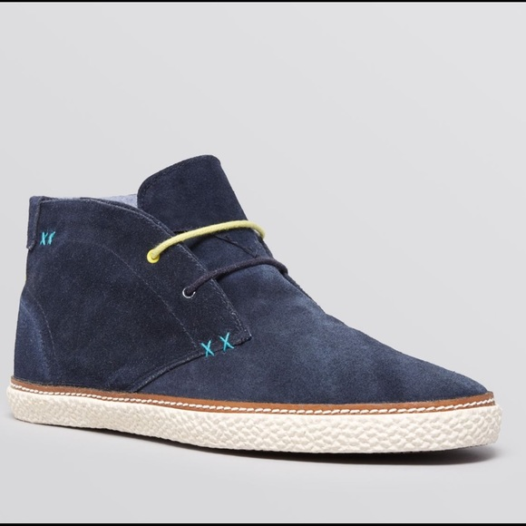 a1dc8363b0c NEW Ted Baker Men s Chukka Boot Abdon Blue Suede