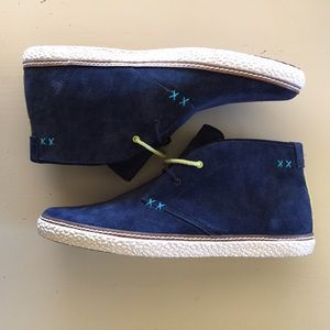 80da430314ad80 Ted Baker London Shoes - NEW Ted Baker Men s Chukka Boot Abdon Blue Suede