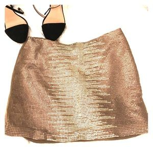T-Bags Dresses & Skirts - T by Tbags gold/olive sequin skirt size small