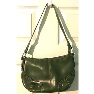 Green Purse Flashlight Combo Green Vegan Leather