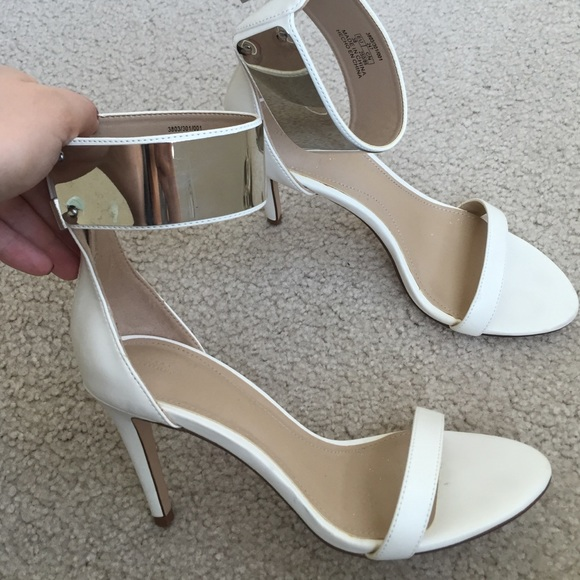 33% off Zara Shoes - Zara white silver sexy blogger shoes heels 38 ...