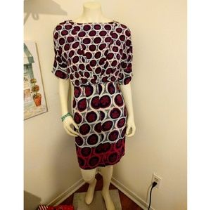 Anthropologie Dresses & Skirts - Maeve Burgundy & Navy Tie Back Dress