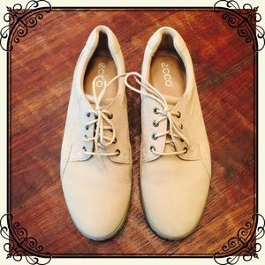 Ecco Shoes - Women's tan suede lace ups by Ecco. Like new!
