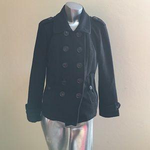 Sebby Jackets & Blazers - Sebby Black Jacket Medium T-Shirt Type Jacket ✔