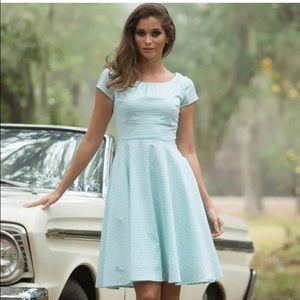 Shabby Apple Dresses & Skirts - Shabby Apple Bonny Derby Blue Gingham Dress 2 S