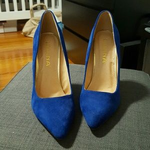 lulus Shoes - Blue heels