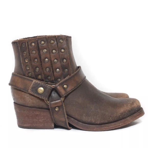 3333fe32fb6 Corral Shoes - CORRAL Harness Stud Distressed Ankle Boots