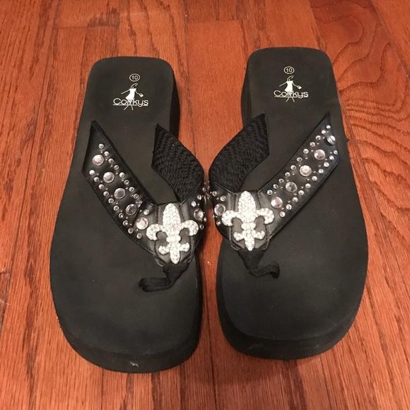 a6b12d1d6 Corkys Shoes - Country style flip-flops
