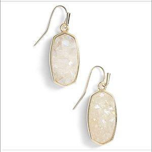 Kendra Scott Danay Drop Earrings Drusy & Gold