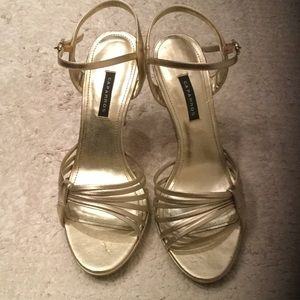 Caparros Shoes - Gold metal heels. Worn once. Great condition