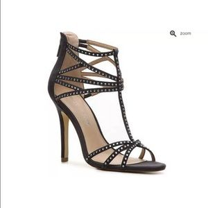 Audrey Brooke Shoes - Audrey Brooke Gray Silver studded heels shoes 6.5
