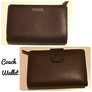 Coach Handbags - Authentic Coach Wallet Brown Leather Billfold