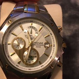 Pulsar Accessories - Men's Pulsar chronograph two-tone watch
