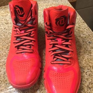 Derek Rose Other - Red and Silver Derrick Rose Shoes