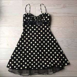 Blondie Nites Dresses & Skirts - 🔴Black and White Polka Dot Formal Dress