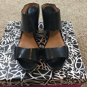 Trask Shoes - Trask black wedges like new condition size 9.5