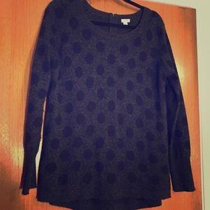 Halogen Cashmere Polka Dot Sweater