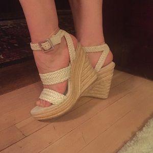 NWOT hot sexy woven sandal heel espadrilles