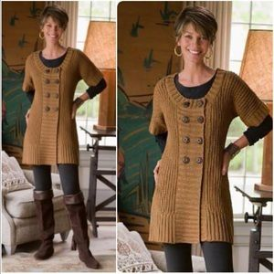 Soft Surroundings Double Breasted Sweater