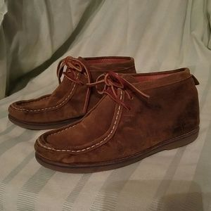 Massimo Dutti Brown Leather Lace Boots/Shoes 33/2