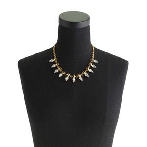 Pyramid-studded Crystal Necklace