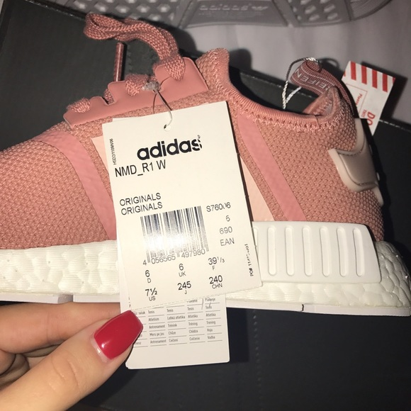 13 off adidas shoes adidas nmd r1 raw pink white from. Black Bedroom Furniture Sets. Home Design Ideas
