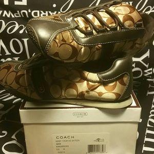 Coach Shoes - Coach gold KIRBY sneaker