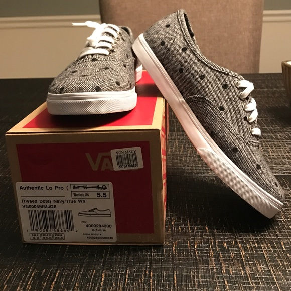 ffd576165ba3a9 Tweed Dots Authentic Lo Pro Vans