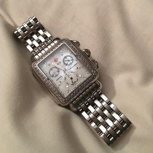 Michele Accessories - Authentic Michele Diamond Deco Watch Silver