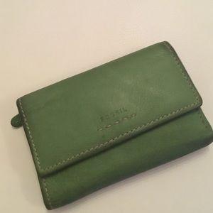 Fossil cute green wallet