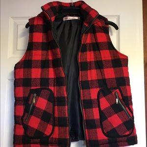 Jackets & Blazers - Buffalo plaid puffy vest