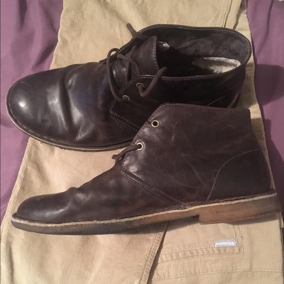 UGG Men's LEIGHTON CHUKKA DESERT Leather Boots