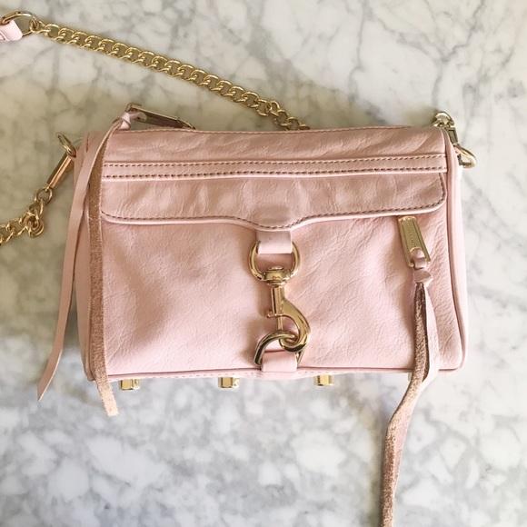 fc427477cbb Blush Pink Rebecca Minkoff Mini MAC Crossbody bag