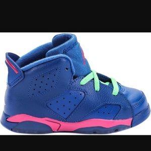 Jordan Other - Jordan's 6 Retro BT Royal Blue/Hot Pink/Lime green