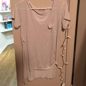 Nollie Tops - Striped Nollie Tunic T-shirt