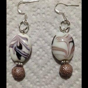 PeaceFrog Jewelry - Purple Swirl Earrings