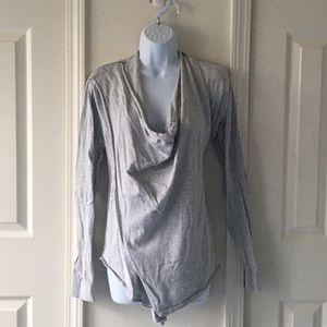 elan Sweaters - Light grey wrap sweater