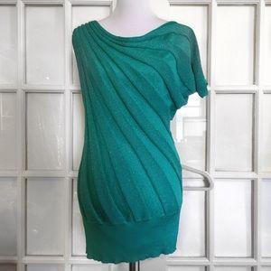 Dots Dresses & Skirts - Dots Emerald Green Spiral-Ribbed Dress/Tunic