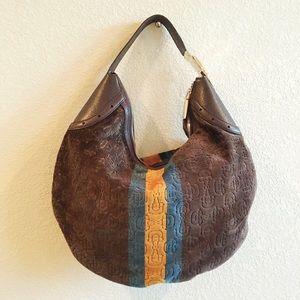 Gucci Suede Hobo + Wallet